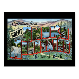 Greetings from Great Smokey Mountains Postcard