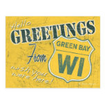 Greetings from Green Bay Wisconsin Postcard
