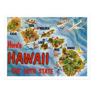 Greetings From Hawaii Postcard