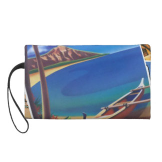 Greetings From Hawaii Wristlet Clutches