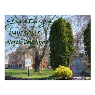 Greetings from Hayesville, North Carolina Postcard