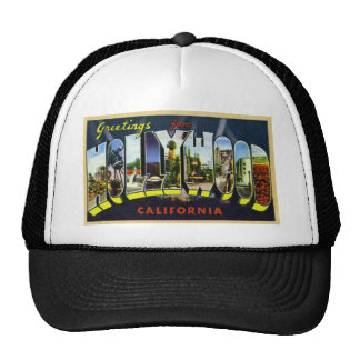 Greetings from Hollywood California Mesh Hats