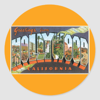 Greetings from Hollywood! Round Sticker