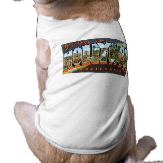 Greetings from Hollywood! Sleeveless Dog Shirt