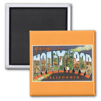 Greetings from Hollywood! Square Magnet