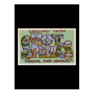 Greetings from Hot Springs National Park Arkansas Postcard