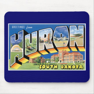 Greetings from Huron, South Dakota!  Retro Mouse Pad