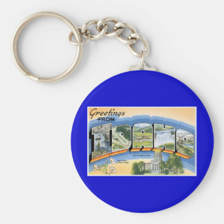 Greetings from Idaho! Key Ring