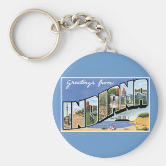 Greetings from Indiana! Key Ring