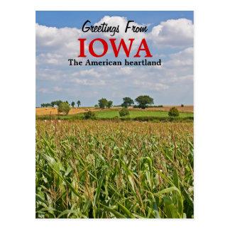 Greetings From Iowa Postcard