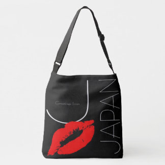 Greetings from Japan Red Lipstick Love Kiss Tote Bag
