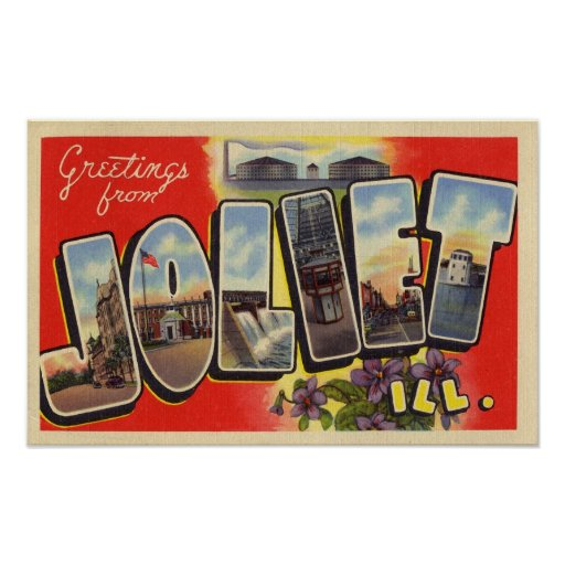 Greetings from Joliet Illinois Poster