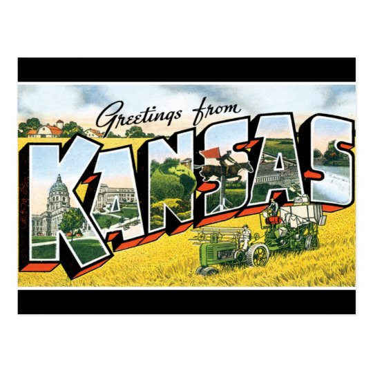 Greetings from Kansas Postcard