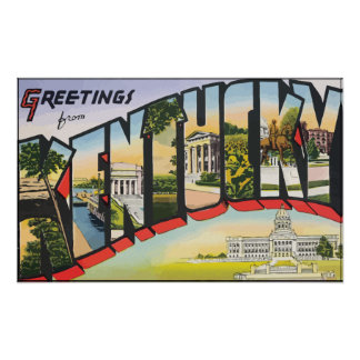 Greetings From Kentucky Vintage Posters