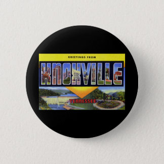 Greetings from Knoxville Tennessee 6 Cm Round Badge