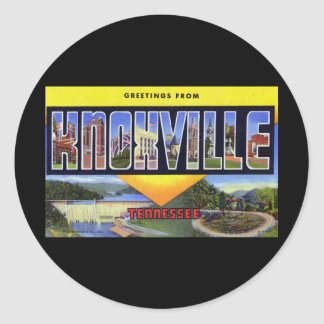 Greetings from Knoxville Tennessee Round Sticker