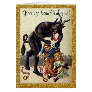 Greetings from Krampus Holiday Greeting Card
