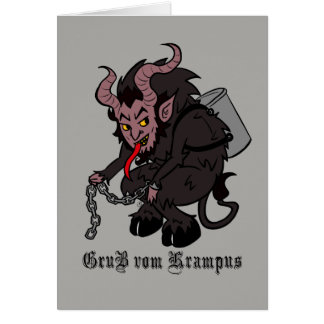 Greetings from Krampus in Brown Card