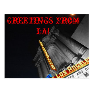 Greetings from L.A.! Postcard