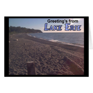Greeting's from Lake Erie Ohio Beach Card