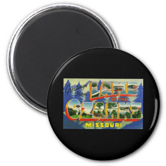 Greetings from Lake of the Ozarks Missouri 6 Cm Round Magnet
