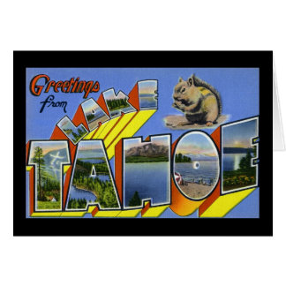 Greetings from Lake Tahoe Greeting Card