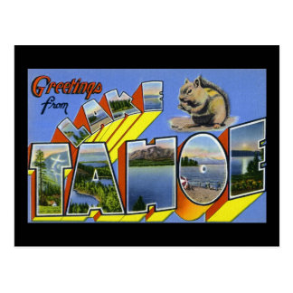 Greetings from Lake Tahoe Postcard