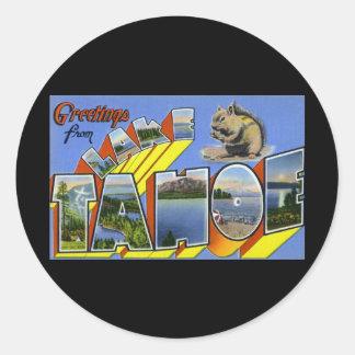 Greetings from Lake Tahoe Round Sticker