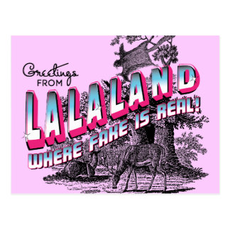 Greetings from LALA LAND - where fake is real Postcard