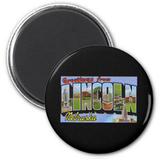 Greetings from Lincoln Nebraska 6 Cm Round Magnet
