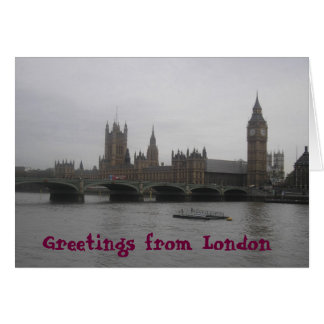 Greetings from London Card