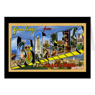 Greetings from Los Angeles California Card