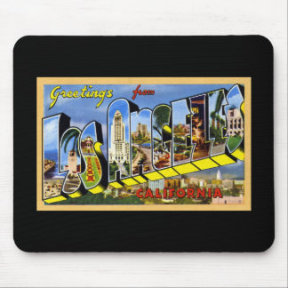 Greetings from Los Angeles California Mouse Pads
