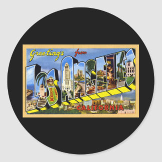 Greetings from Los Angeles California Round Sticker