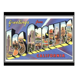 Greetings from Los Angeles California Vintage Postcard