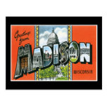 Greetings from Madison, Wisconsin Post Cards