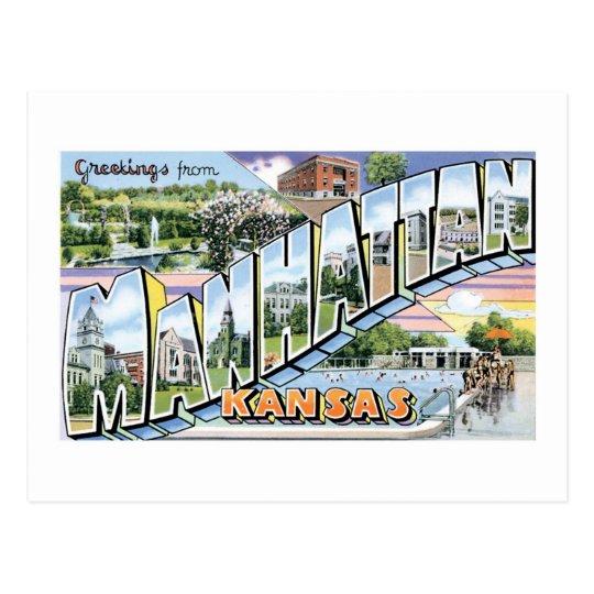 Greetings from Manhattan, Kansas! Postcard