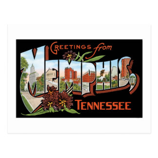 Greetings from Memphis, Tennessee! Retro Post Card
