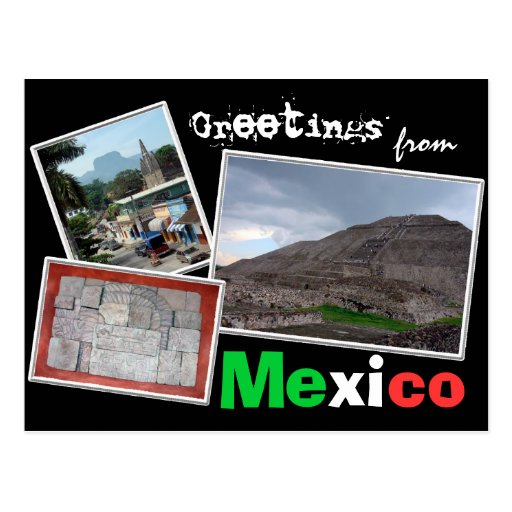 Greetings from Mexico Postcards