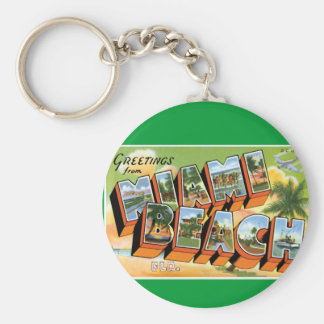Greetings from Miami Beach Key Ring