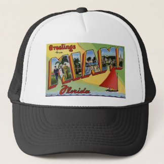 Greetings from Miami Florida Trucker Hat