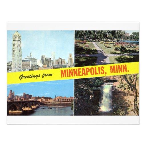 Greetings from Minneapolis 1950s Custom Invitations