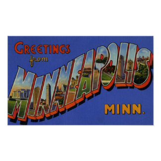Greetings from Minneapolis Minnesota Poster