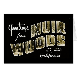 Greetings from Muir Woods National Monument Card
