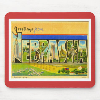Greetings From Nebraska Mouse Pad