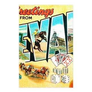 Greetings From Nevada Stationery