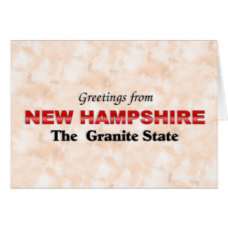 Greetings from New Hampshire Greeting Card