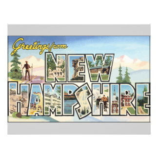 Greetings From New Hampshire, Vintage Full Color Flyer