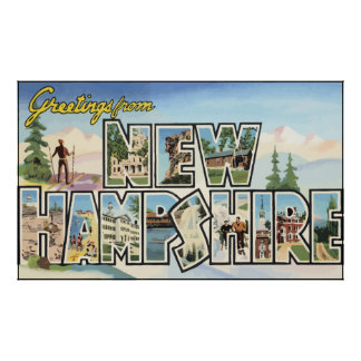 Greetings From New Hampshire, Vintage Poster