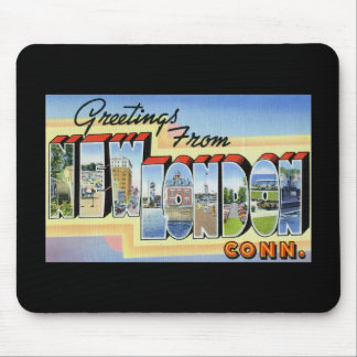 Greetings from New London Connecticut Mouse Pad